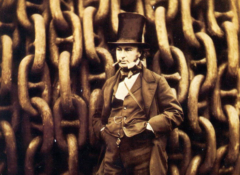 Happy Birthday to Robert Howlett, born #OnThisDay in 1831. 🎉  He took this famous photograph of Brunel in front of the Great Eastern launching chains.  Find out more about the photograph: https://t.co/GFqVwKi1QI https://t.co/3wlIcMkLfL