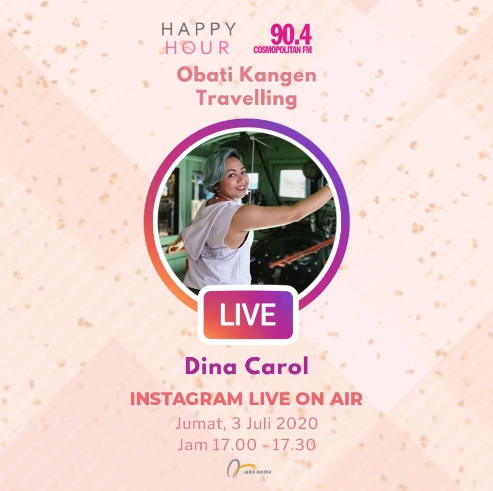 Dengar dan saksikan obrolan @irwanardian dan @jillvandiest di Instagram Live On Air bersama @dina.carol, di #HappyHour hari ini, pukul 17.00 - 17.30 WIB, yang akan ngobrol seru tentang obati kangen travelling! #SahabatPerempuan #TetapMRApat #KembaliKeStudio #RadioLawanCovid19 https://t.co/cTm3rzWjIc