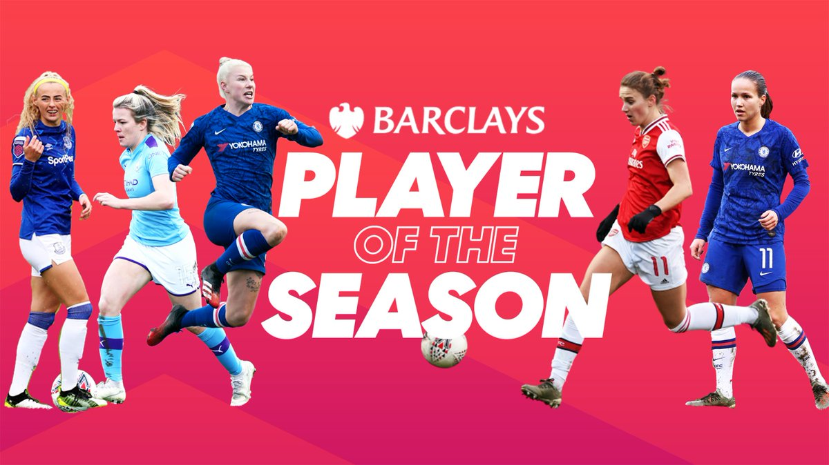💫 @Chloe_Kelly98 💫 @lauren__hemp 💫 @Bethany_Eng15 💫 @VivianneMiedema 💫 @guro_reiten  An impressive season for these five #BarclaysFAWSL stars  Who will get your vote for @BarclaysFooty Player of the Season?  Vote here 👉 https://t.co/EgzDG5C98v https://t.co/ApfOgQeQYT