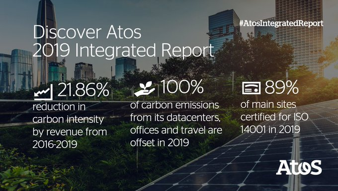 Since 2018, Atos has offset 100% of its #carbon emissions for its...