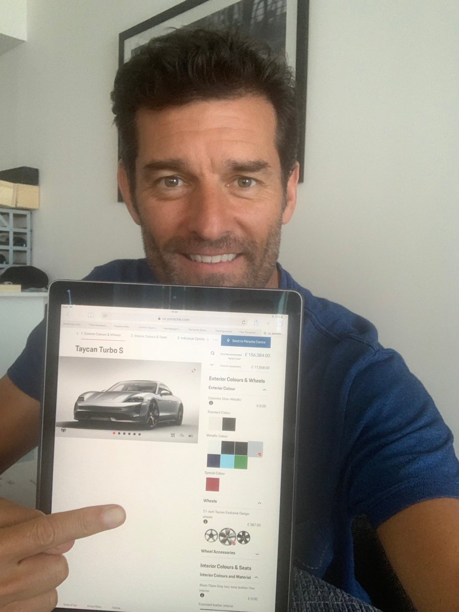 This is what you get when you ask Porsche Brand Ambassador @AussieGrit to spec his dream Taycan on the configurator: https://t.co/7lvFgTCJTQ  Read all about it over on @DRIVETRIBE, where he heads up the official Porsche tribe: https://t.co/BTBLWHDLsU  #howwouldyouspecyours https://t.co/WN9ICHbrSP