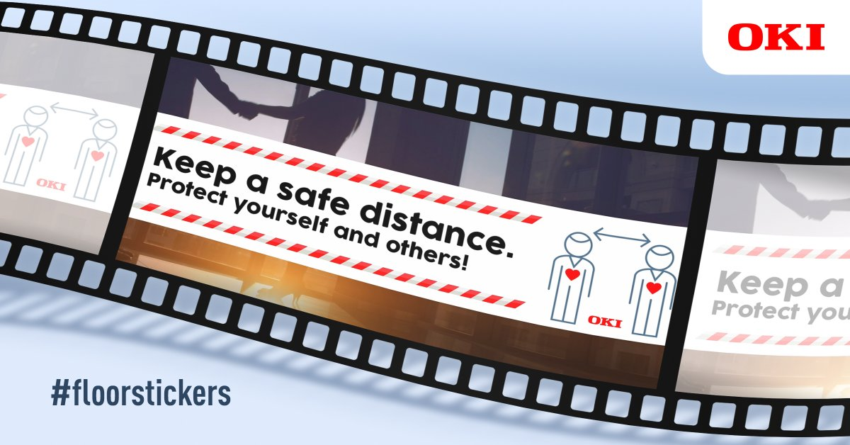 OKI Europe is helping to keep businesses safe with free* #floorstickers and graphics to promote #socialdistancing. Our video shows how to keep staff and customers safe: https://t.co/5e25bRETgM https://t.co/Dp5LTOlIWv