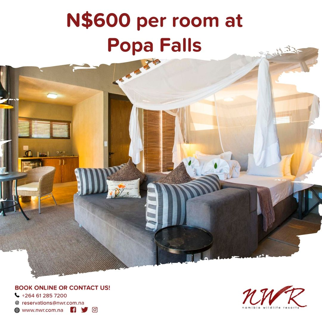 Visit our resorts for only N$600/room. Reservations: +264 61 285 7200 reservations@nwr.com.na  #Namibia #Africa #travelafrica #travel #tourist #NWR #instatravel pic.twitter.com/cg1zhQvPjP