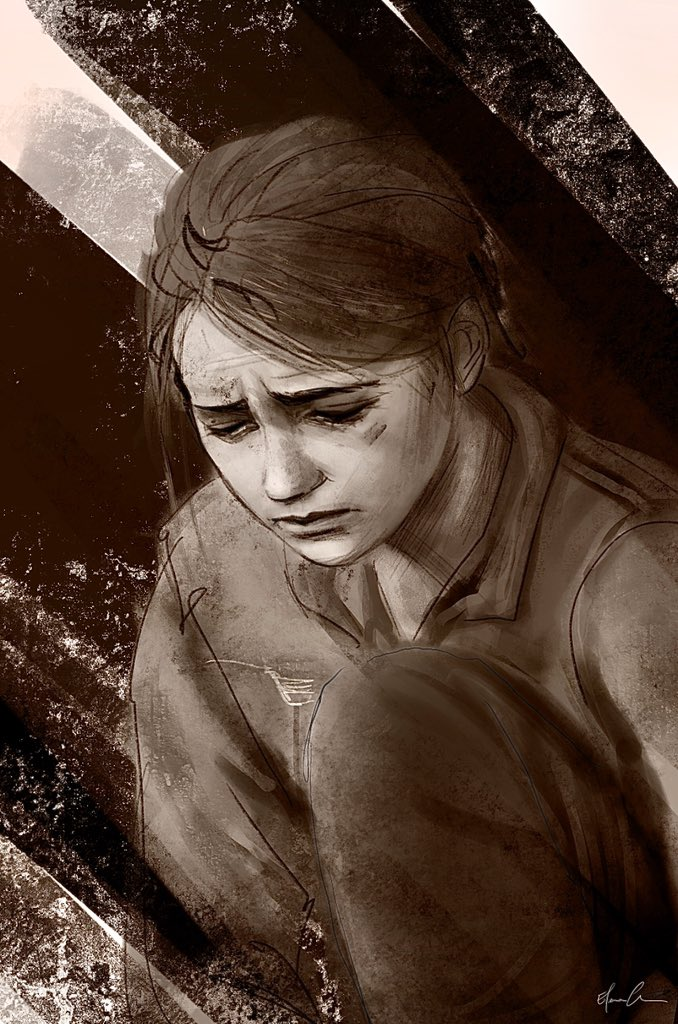 |Grief|  Listening to #FutureDays while drawing this really hit me. . . #tlou #TLOU2 #ellie #naughtydog #TheLastofUsPart2 #TheLastofUsPartll #thelastofus #JOELMILLER #videogames #art #digitalart #sketch #drawing #ArtistOnTwitter #elliefanart #procreatepic.twitter.com/cUy5ssTmiT