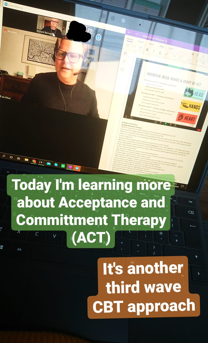 Excited for @contextconsult and @thinkpsychol webinar on #ACT100  #ACT #Acceptanceandcommitmenttherapy #cbt #psychotherapy https://t.co/yplinKLEym