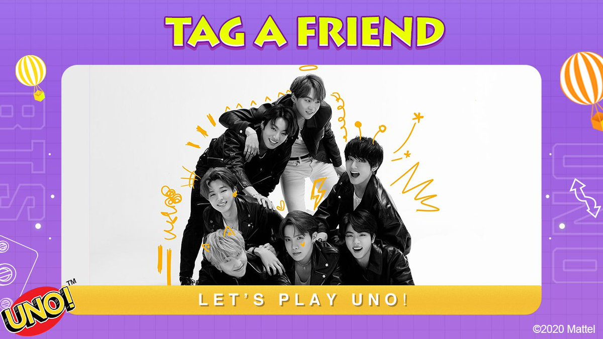 Win an #UNOxBTS deck for you and a friend.  Tag a friend who wants to win a physical set of #UNOxBTS cards. We'll choose 10 pairs of friends and send them their prizes!<br>http://pic.twitter.com/XpgCadcovf