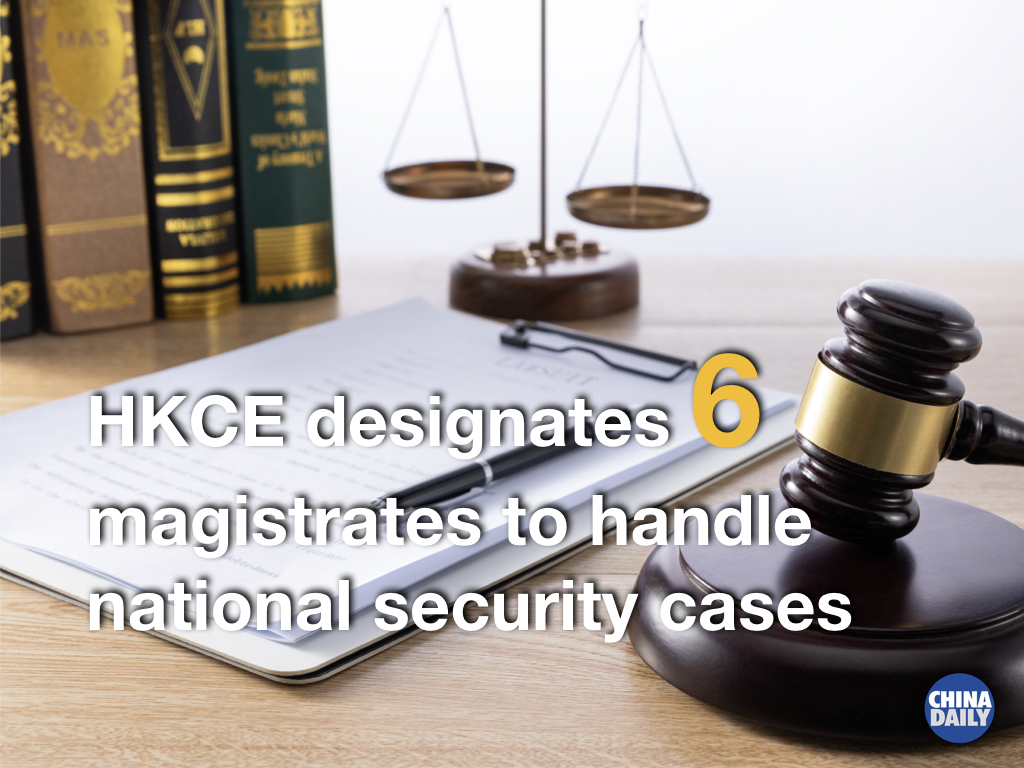 Hong Kong Chief Executive Carrie Lam Cheng Yuet-ngor on Friday designated six #HongKong magistrates to serve as judges to handle cases and appeals in relation to the national security law, which came into effect on June 30. #NationalSecurity #HKSAR https://t.co/3rfBj04Hs0