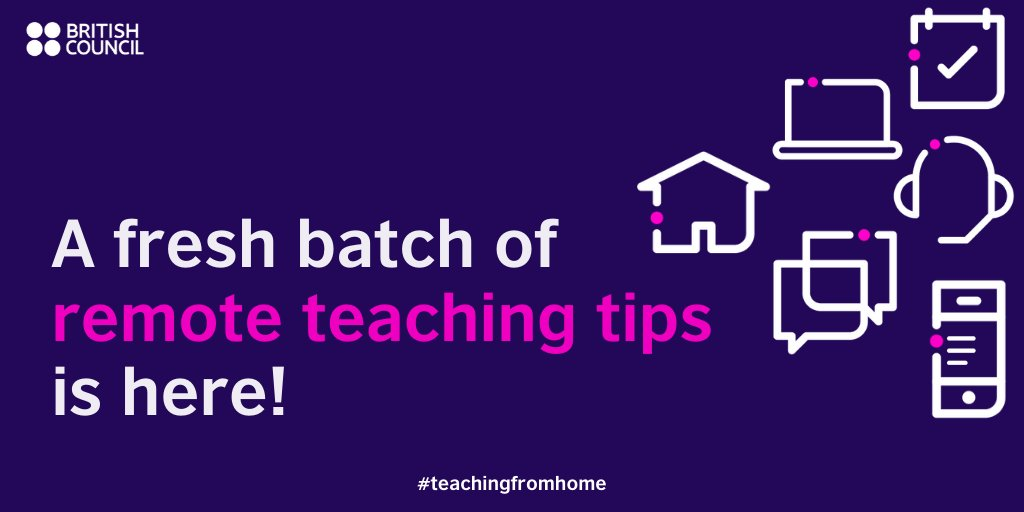 Need help with remote teaching? Check out our Remote Teaching Tips series http://bit.ly/2yXwjuN  for practical ideas and guidance on teaching via SMS, telephone, social media, radio, online and more. #TeachingFromHome pic.twitter.com/4aRFa9wiV0