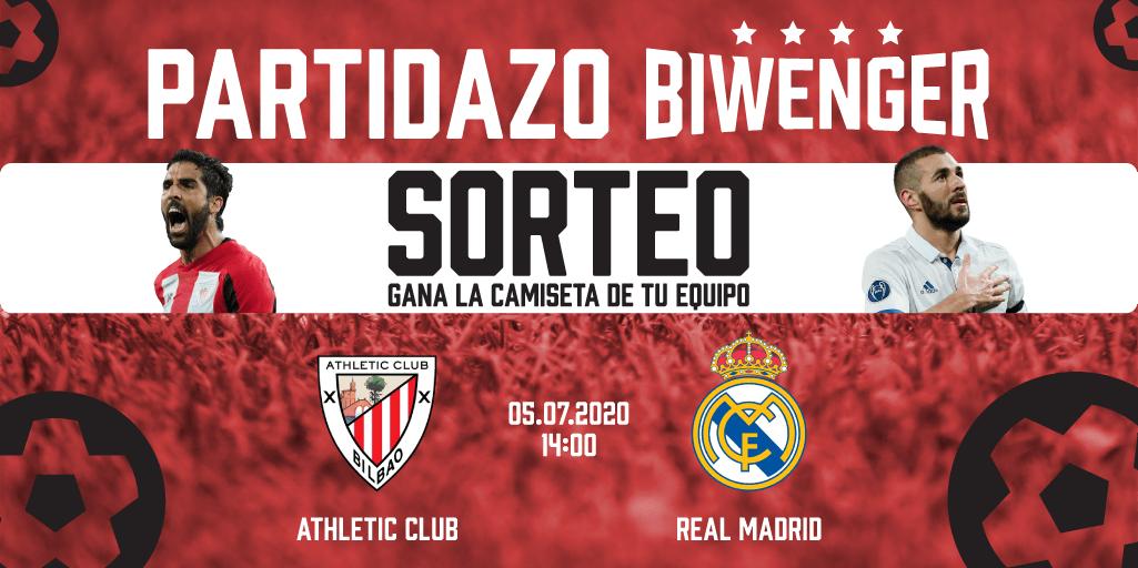 🚨 Athletic Club - Real Madrid, El Partidazo Biwenger   📝 Requisitos:  📲 Síguenos + Rt  ⚽️ Da un resultado  ⏰ Hasta el domingo a las 14:00h. El lunes se hará un sorteo entre los acertantes de las 3 redes sociales  👉 La previa de @Espanyol_guia: https://t.co/MFYKXu6Rg3 https://t.co/r9fWJarD8U