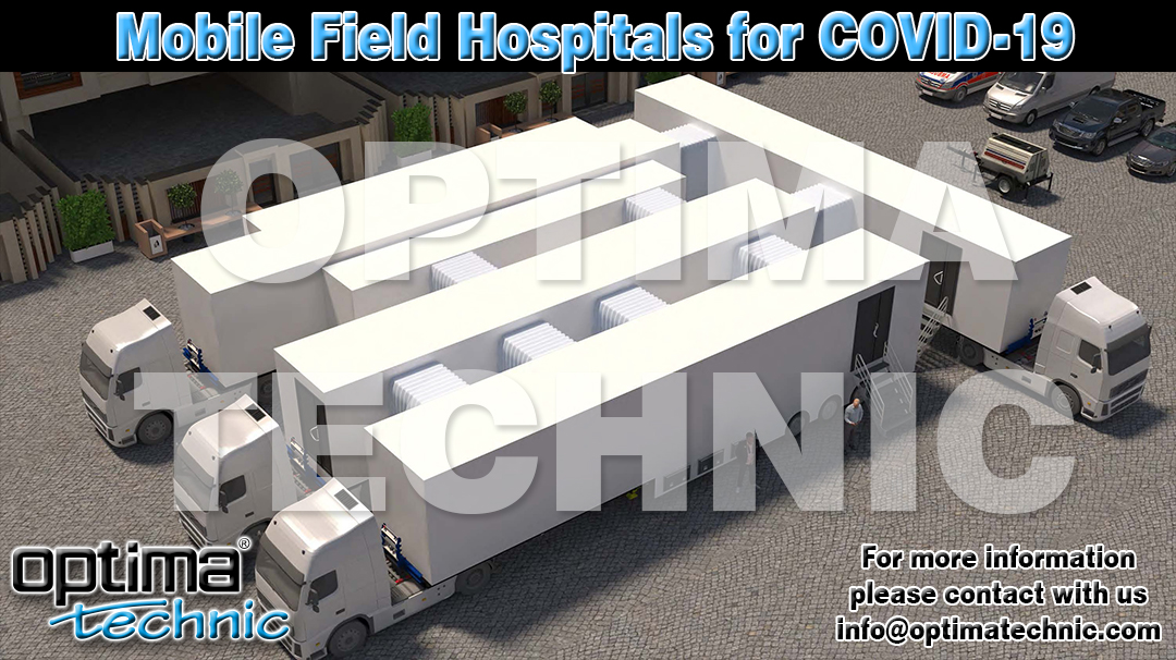 Mobile Field Hospitals for Covid-19 with including ICU, Laboratory and Examination Rooms.  For more information, please contact with us.  https://t.co/wfnKNzBriK info@optimatechnic.com  #madeinturkey #mobilehospital #optimatechnic #mobileclinic #corona #covid19 #fieldhospitals https://t.co/KQscxMX8k5