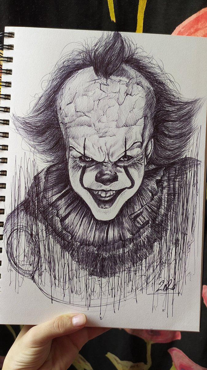 Freehand drawing of pennywise   Uploaded it's video https://youtu.be/lL9qHstc9o0 #pennywise #drawing #drawingpennywise #itmovie #itmoviecharacterdrawing #pennywisesketch #penart #pensketch #freehanddrawing #freehandsketch #YouTube #youtubeartist #Instagram #instagramartistpic.twitter.com/wI3xpixloG