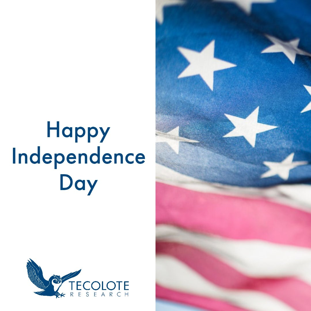 All of us at #TecoloteResearch wish you a happy #4thofJuly! Stay safe and healthy! #DoOurPart https://t.co/UuF6YQ43Wa