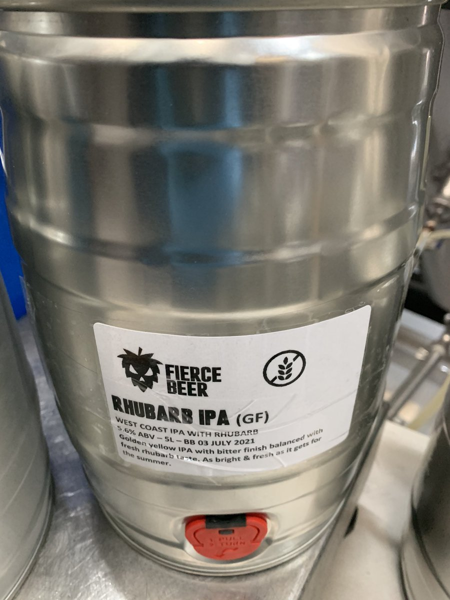 Image for Rubarb IPA is alive and on our web shop now. 5 litre kegs only www.fiercebeer/shop https://t.co/qQWG6Lhqnn
