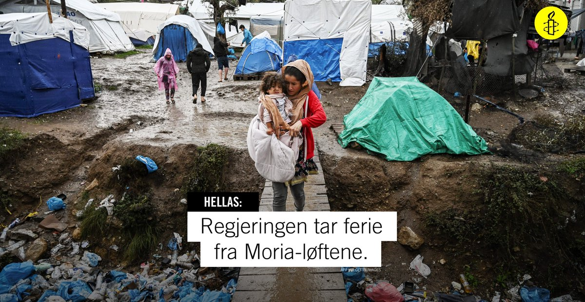 Slutt å vente, begynn å hente! I mai feiret regjeringspartiene en løsning som skulle evakuere sårbare flyktninger fra Moria i Hellas. Men ingenting skjer.👎 FNs høykommisjonær for flyktninger ber Norge ta grep umiddelbart. Vi kunne ikke vært mer enig. Evakuer barna fra Moria nå! https://t.co/o0jr4M82zW