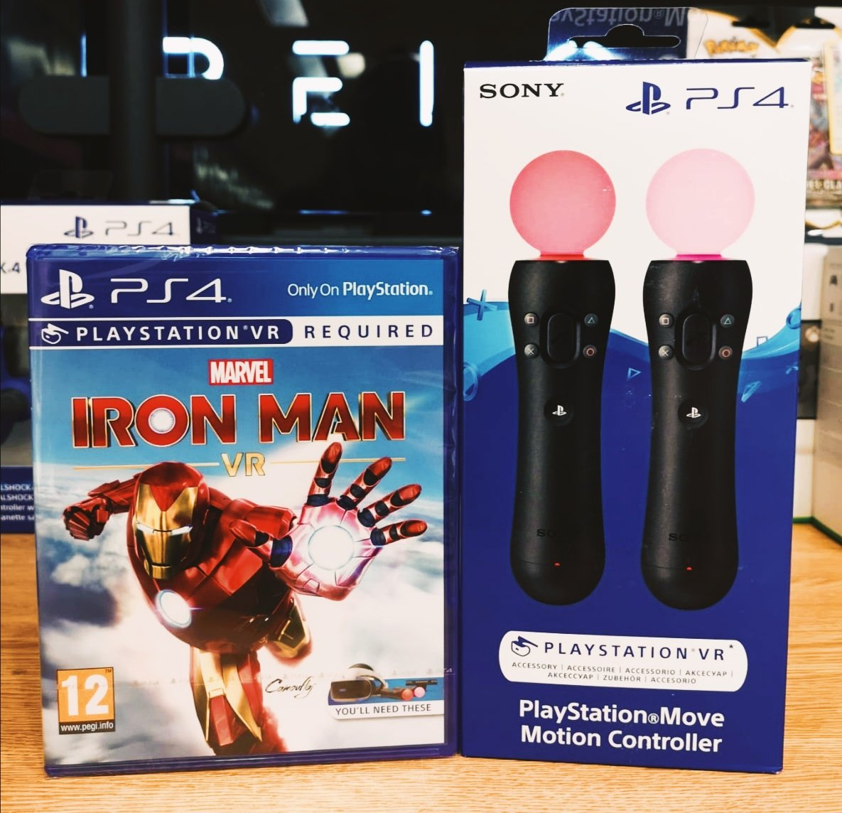 Iron Man VR is out today, folks!  Get the game for £34.99 and the Move Controllers for £79.99!  Make it all cheaper when you bring your trade with you! https://t.co/HAJq1eZUSk