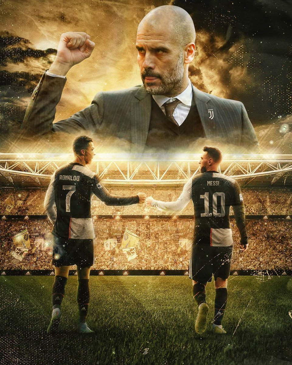 Guardiola, Ronaldo and Messi at Juventus in 2021. Run it back against Europe. Win it all. Show them who the best manager/best two players are even at 33/35.  Just imagine if we got to see this for a season.  [edit: I don't know] https://t.co/8S6Ute7mcC