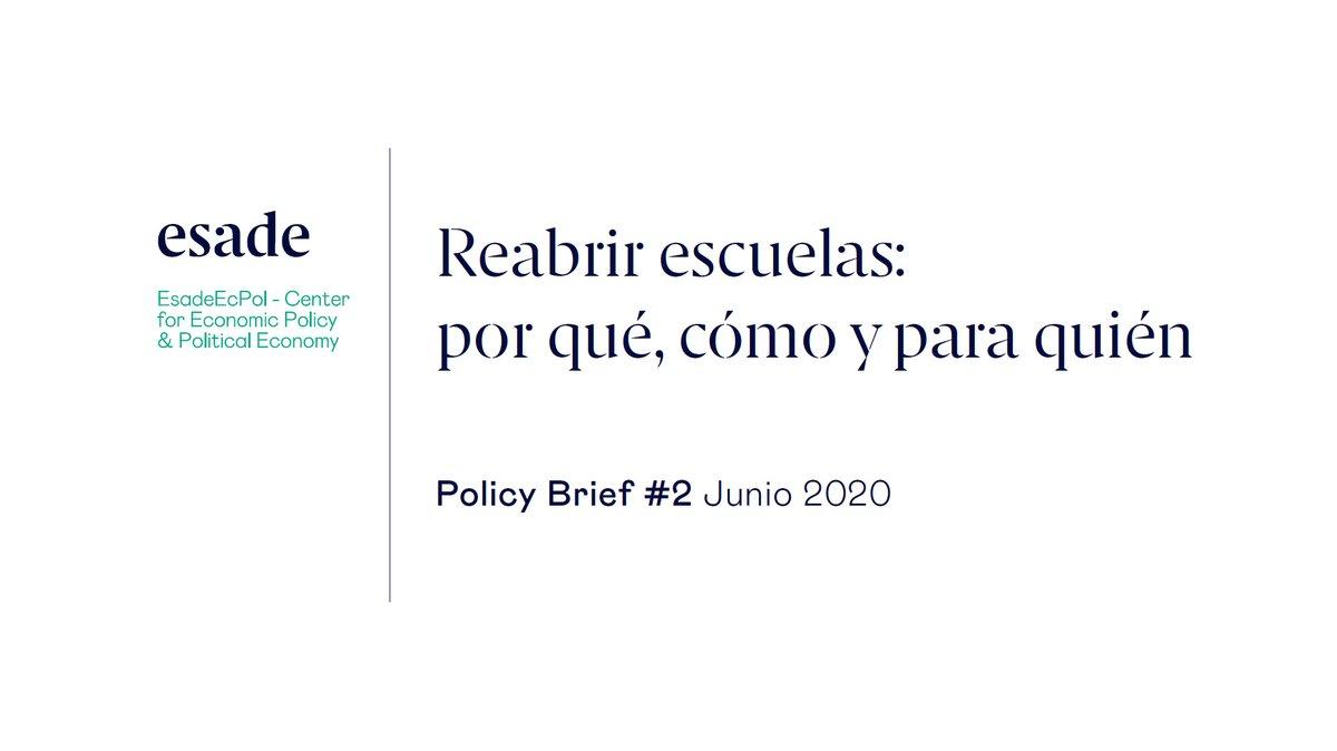 PolicyBrief nº2  @EsadeEcPol propone un modelo de vuelta a las aulas minimizando los riesgos epidemiológicos y los costes sociales y educativos  https://t.co/B2kuplq0c8 https://t.co/z0S5Iq4an7