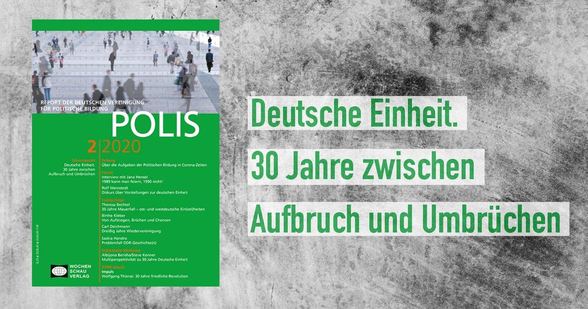 Am 1. Juli 1990 kam die D-Mark nach Ostdeutschland. Es war einer der entscheidenden Umbrüche dieser Zeit, der den langen Prozess der #Wiedervereinigung einleitete. Passend zu diesem Jahrestag erschien nun das neue Heft der #POLIS.   Gratis testen unter https://polis.wochenschau-verlag.de/.pic.twitter.com/IFQlb9Tx7B  by Wochenschau Verlag