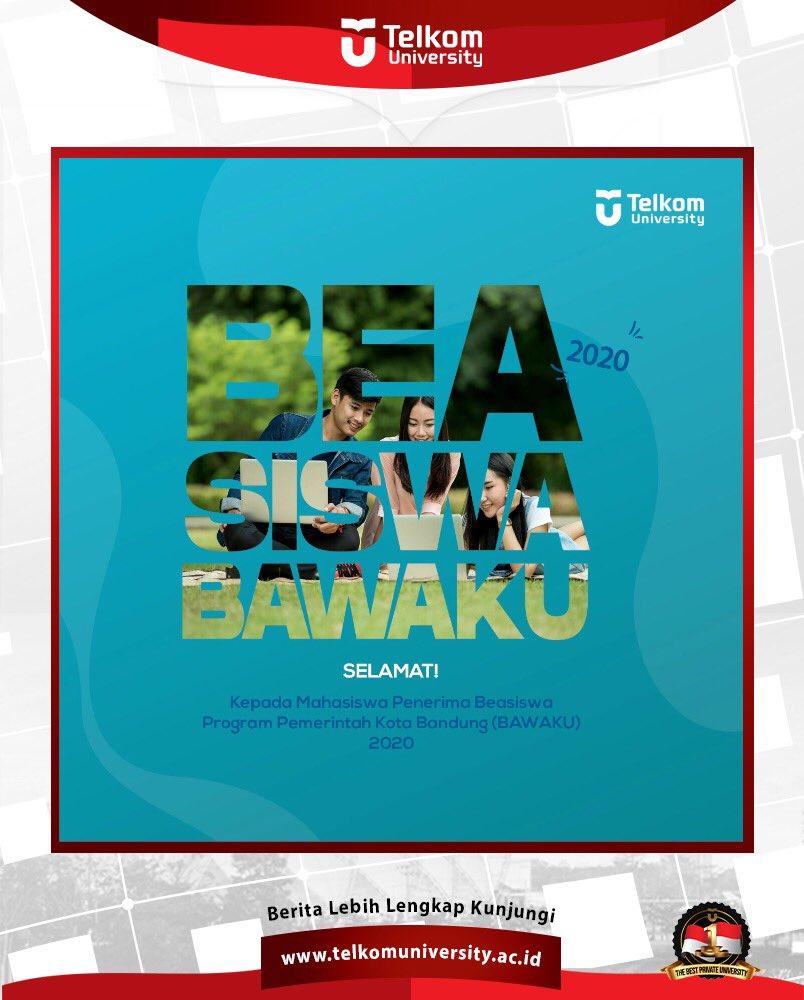 Selamat kepada mahasiswa penerima Beasiswa Program Pemerintah Kota Bandung (BAWAKU) Tahun 2020. Terus berprestasi dan semangat belajar yaa! #telkomuniversity #kampusswastaterbaik #beasiswa https://t.co/JVqKbbyv43
