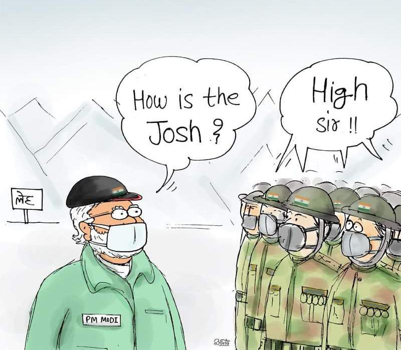 Every Indian is full of Josh 🇮🇳 That's the power of a leader @narendramodi Ji #ModiInLeh