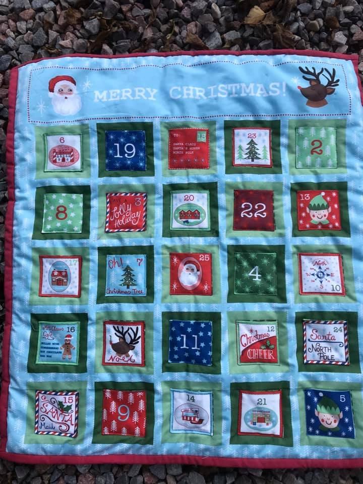#ChristmasCountdown my #etsy shop: Handmade advent calendar, quilted advent calendar with 25 pockets etsy.me/2YUqXL4 #christmas #adventcalendar #christmascountdown #firstchristmas #reusablecalendar #forevergift #25cottonpockets #handmadechristmas