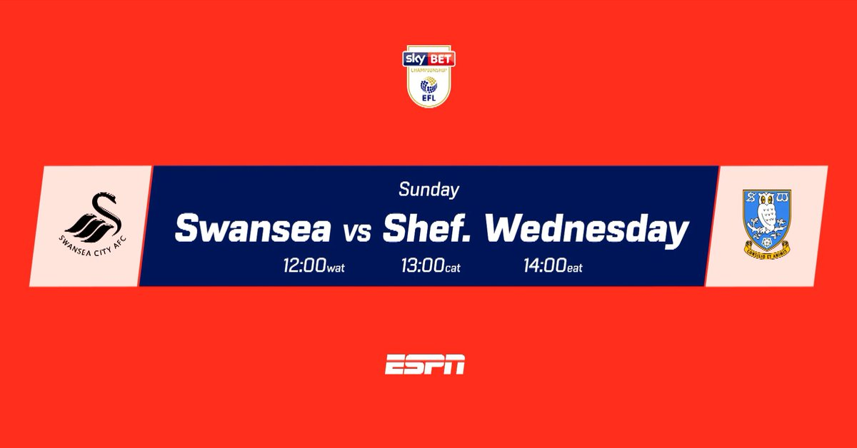 Swansea still have an outside chance of qualifying for a playoff place while Sheffield Wednesday will hope to improve their position  Don't miss the English Championship as teams battle till the end, showing on ESPN  The excitement never ends!  #StarTimesSports #Championship https://t.co/4OPqSqRR8K