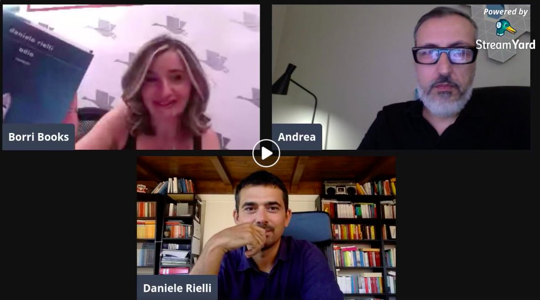 """""""La società delle tribù""""  Un dialogo su #Odio con Andrea Piva da Borri Books Roma.   @Librimondadori   https://t.co/BMVq3kulWG https://t.co/TmUq4rpE3w"""