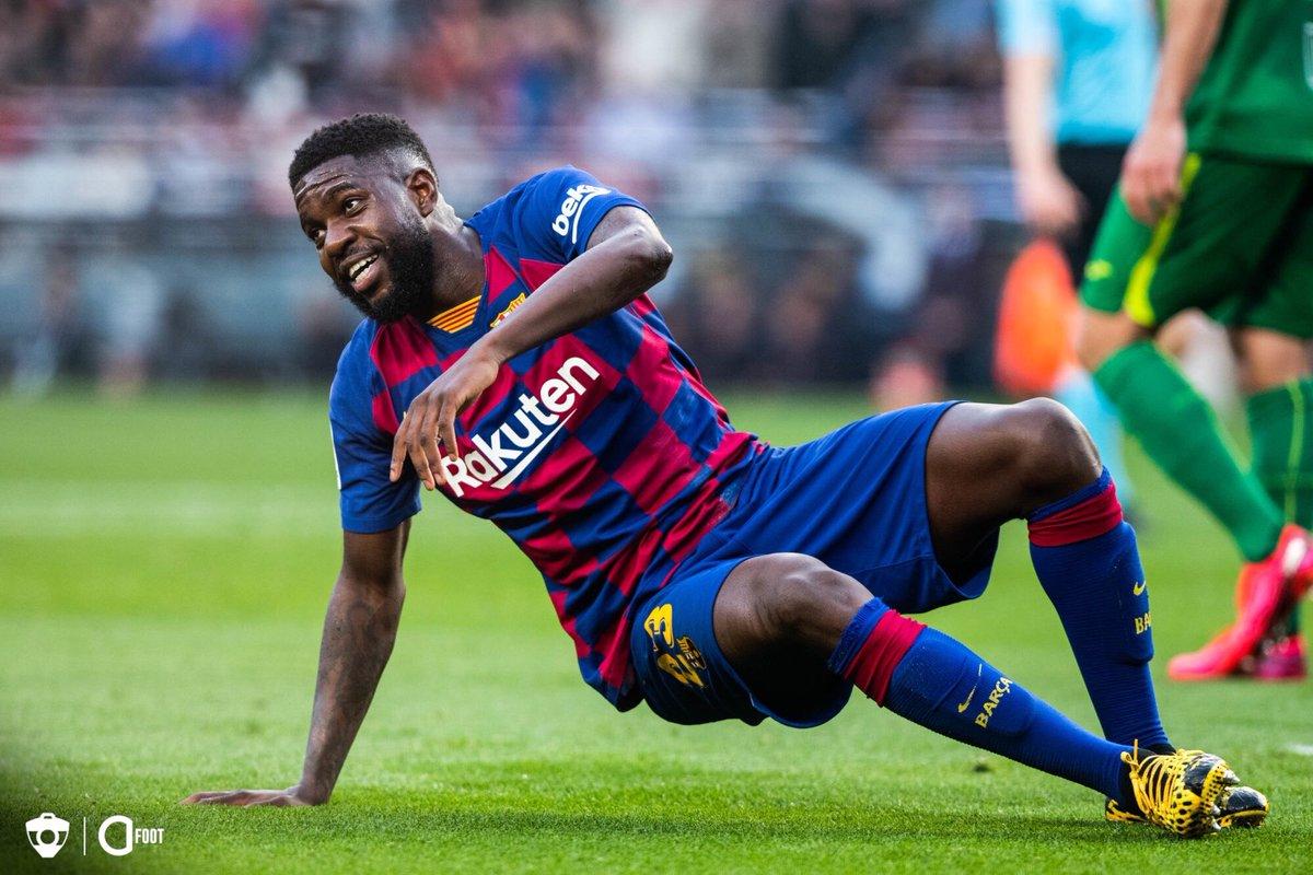 🔴 OFFICIEL ! Le FC Barcelone annonce que Samuel Umtiti souffre de nouveau de problèmes au genou gauche.  La durée de son indisponibilité dépendra de l'évolution de sa blessure. https://t.co/aHFAY7a4Ym