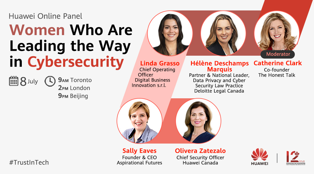 """Female voices matter more than ever when it comes to cybersecurity. Tune in to the #Huawei Online Panel on July 8 to hear industry leaders discuss """"The Value of Women's Representation in the Cybersecurity Industry"""". Click to register: https://t.co/9RMeCwl3b0 #TrustInTech https://t.co/hnwtaMRXxo"""