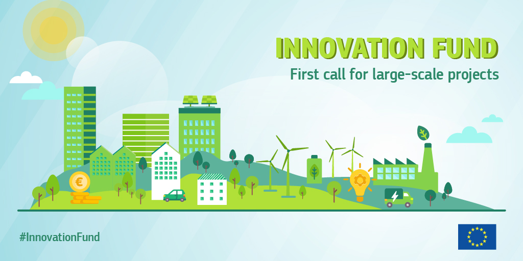 The 1⃣st #InnovationFund call for large-scale projects is open! €1 billion of 🇪🇺 funding is available to bring to the market innovative #CleanTech that will green our energy & industry for a #ClimateNeutralEU 🌱 Start your application today! europa.eu/!PX74vg #EUGreenDeal