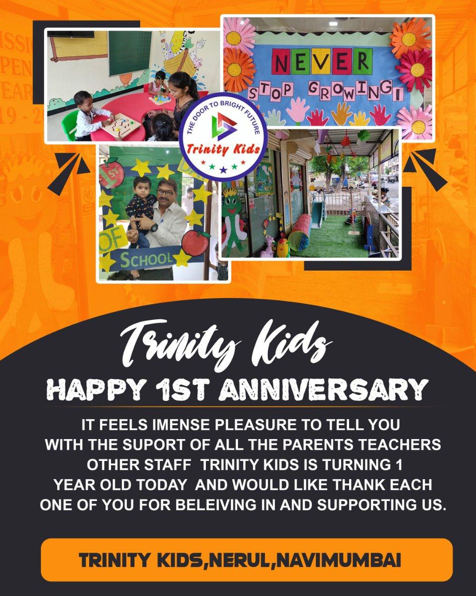 Trinity Kids Nerul completed a year. #trinitykidsnerul #preschool #daycare #kids #Activity #centre #navimumbaipic.twitter.com/A06xY2sL1R