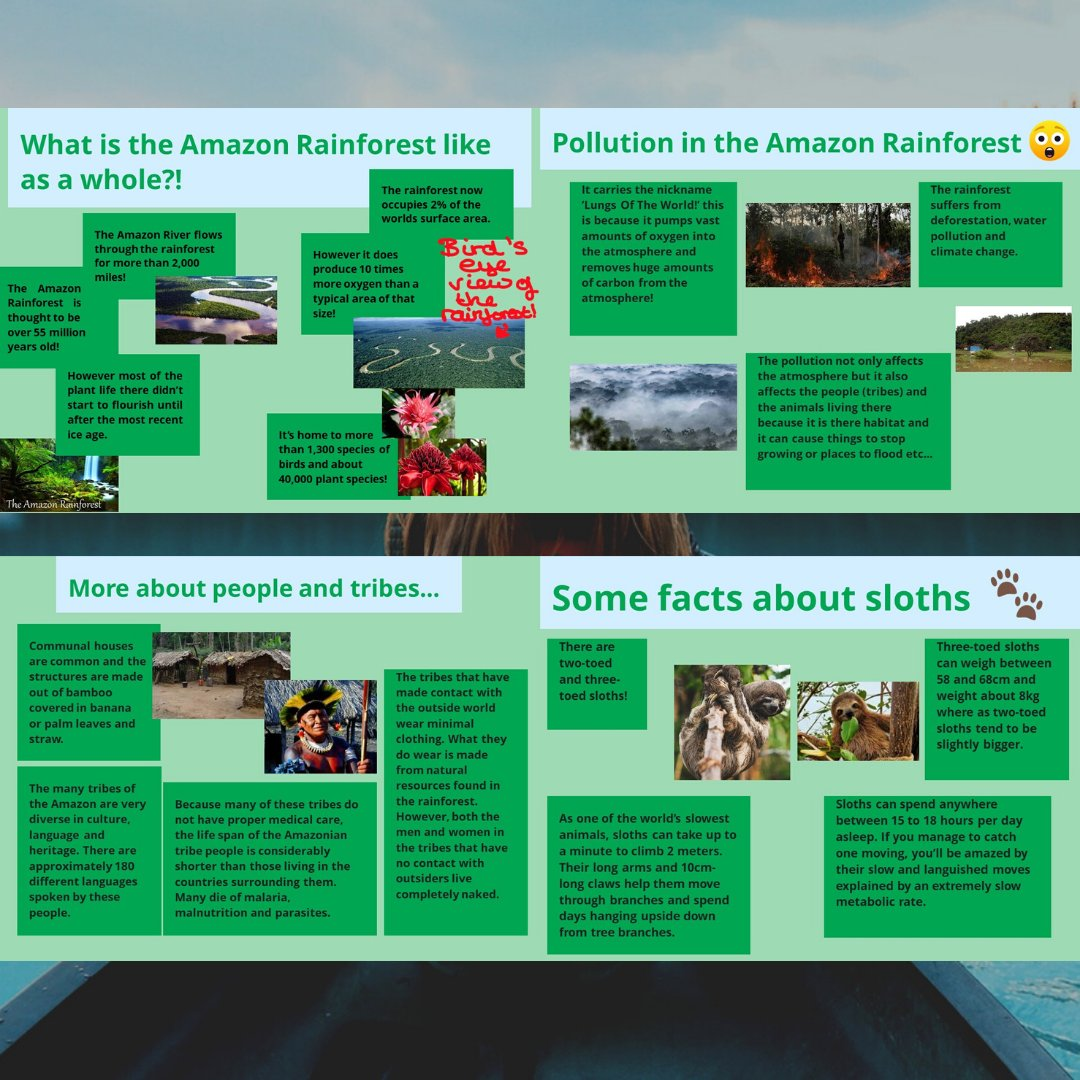 As shown yesterday, Year 8 pupils have been studying The Amazon in Geography. Here are some extracts from Zara's project  #manorhouseschool #bookham #Humanities #leatherhead #easthorsley #SurreyGirlsSchool #IndependentSchoolSurrey #SeniorSchoolSurrey