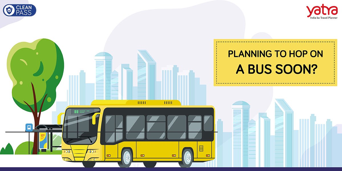 Planning to hop on a #bus soon?   Remember to follow these simple tips to ensure a safe and a stress-free travel.   Clean Pass is an assurance from our end that the highest safety and sanitisation measures are in place. #IndiaKaTravelPlanner https://t.co/qyeV23X8sw