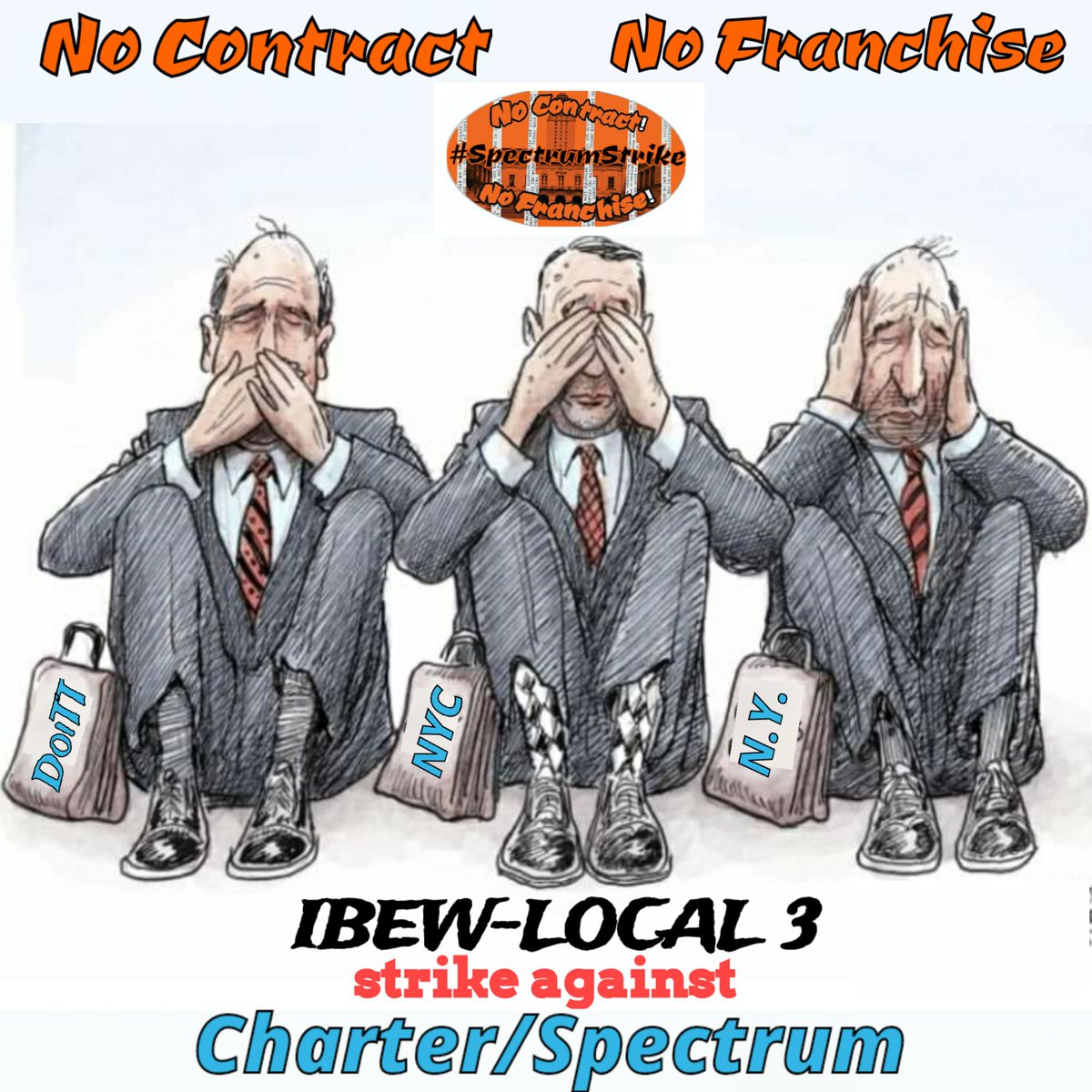 Day1194 Brothas & Sisthas these officials in place, are there to prevent: Fraud; Lies & union busting. However-  they're playing: Dumb; Blind & Deaf. 3 plus years of sitting back & watching #SpectrumStrike #Local3 #FairContractNow #corporategreed #NoContractNoFranchise2020<br>http://pic.twitter.com/bgXABJHLSc