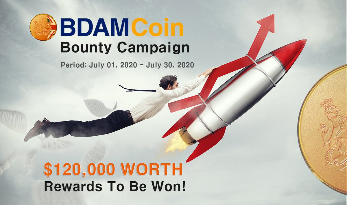 We are a CoinTiger listing event,  bounty program has started.  A bdam token of 120k usd worth of reward! Period: July 1, 2020 ~ July 31, 2020  Bounty link:  https://t.co/c084ZnvevJ  #BDAM #CoinTiger #bounty #Reward https://t.co/GAdTWkBlCi