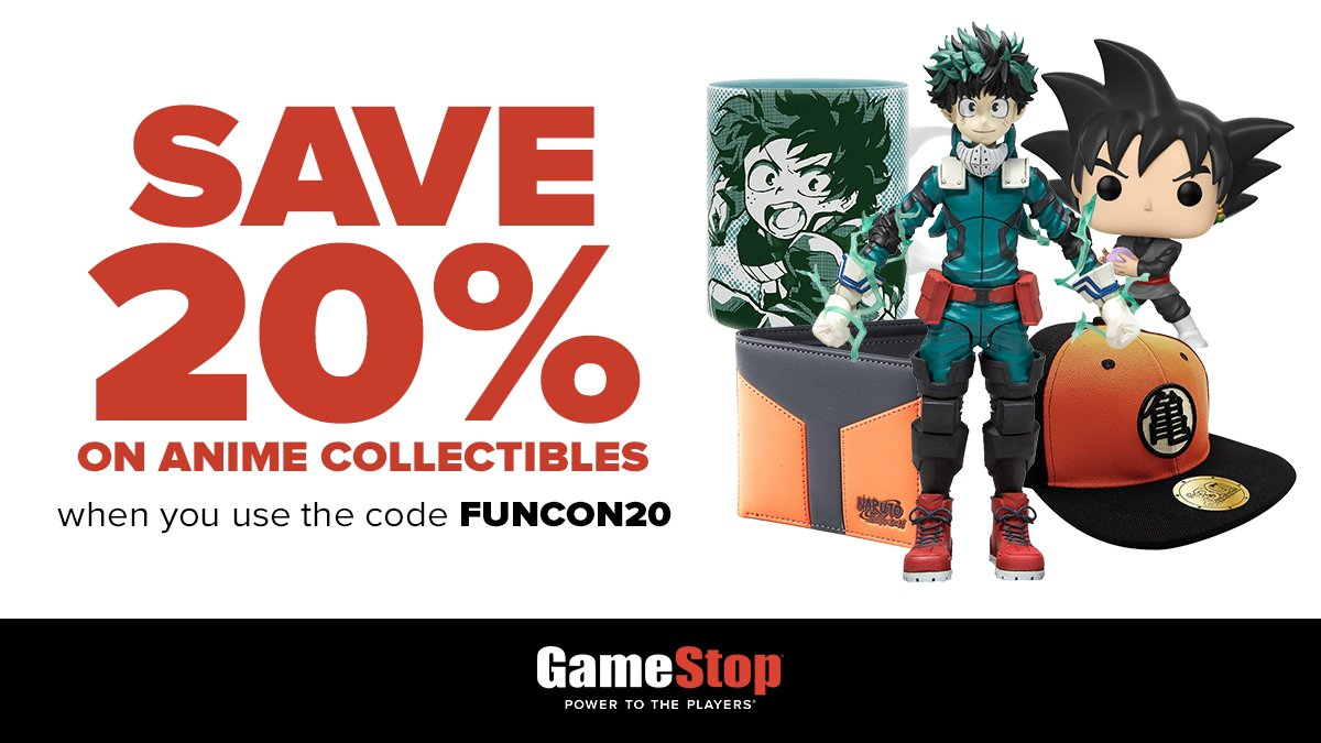 Shop online and use the code 'FUNCON20' to Save 20% on Anime Collectibles! Valid until July 4th. https://t.co/JbIaSXq0l5 https://t.co/22FmTFRwC4