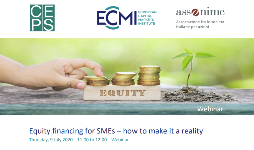 Next Thursday we will be talking about equity financing for SMEs with:   🗣️@ElenaCarletti7 of @Unibocconi 🗣️@Jgnietomarquez of @GrupoBME  🗣️ Barry McGrath of @EIF_EU  🗣️@MavricekMorana of @EU_Finance    Join us! https://t.co/8TxM1YX2Wx https://t.co/z8v6dF94rw