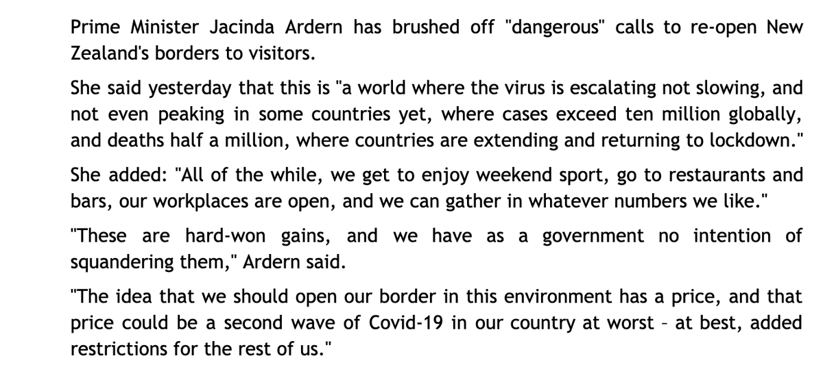 As Scotland moves towards near-total elimination of the #Covid19 virus and a cautious re-opening of our economy and society, we should heed the message from New Zealands Prime Minister, Jacinda Ardern.