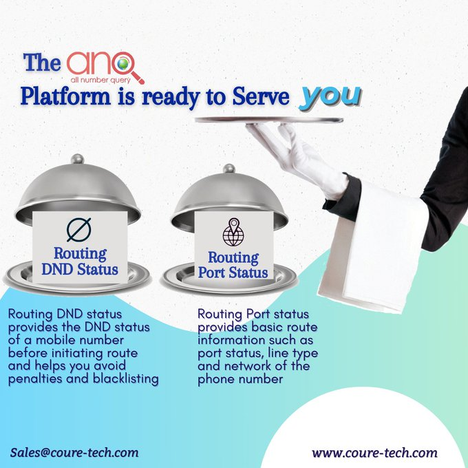 We are here to serve you with incredible Routing options for all your SMS and Voice Campaigns   Routing Port Status  Routing DND Status  Email - sales@coure-tech.com  https://t.co/E5lU0Bng0P  #Tech #Traffic #Africa #Ghana #Smsmarketng #TuesdayMotivation #tuesdayvibes #ANQ https://t.co/RUbstPAclr