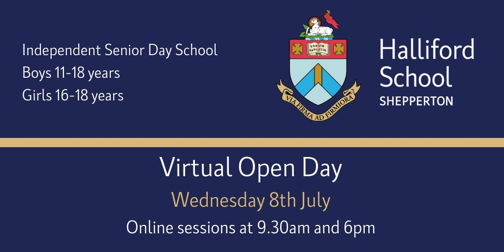 Don't forget to book your spot on our Virtual Open Day this Wednesday.   You can book by visiting our website:  https://t.co/bwuDEkCzl7  #virtualevent #openday #admissions #ProudtobeaHallifordian