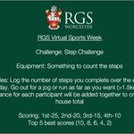 Image for the Tweet beginning: Friday's Step Challenge for Virtual