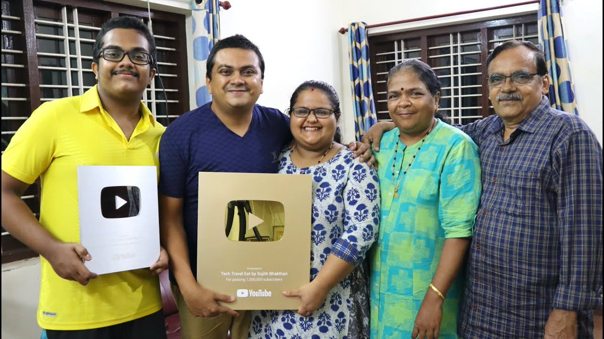 """Tech Travel Eat by Sujith Bhakthan on Twitter: """"GOLD PLAY BUTTON Unboxing with Family 