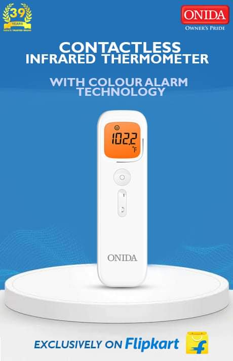 #JustLaunched #InfraredThermometer : Health Check with our Health Tech, Onida introduces contactless infrared thermometers launched on #Flipkart. Check it out here - https://t.co/Q0xKaV4c3P. #IRThermometer #Onida #HealthDevices #IndiaKaOnida https://t.co/uxZ1zbfdvz