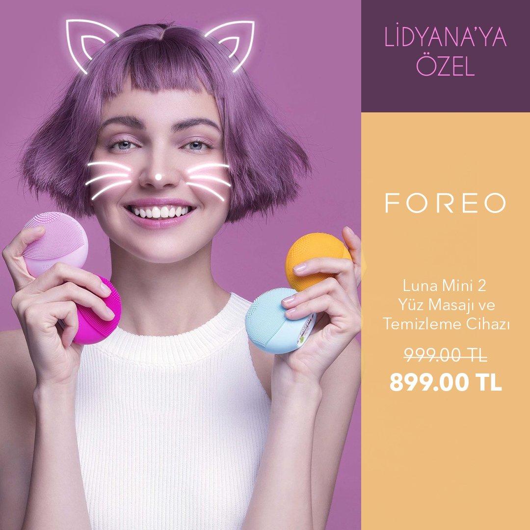 Foreo Luna Mini 2 yüz masajı ve temizleme cihazı %10 indirimle sadece 899.99TL. Lidyana'ya özel bu indirimi kaçırmayın!🌸#foreo #foreolunamini2  https://t.co/sYhBOwivXu https://t.co/mAqH2s9Mfh