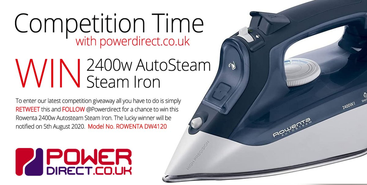 #Free to Enter @PowerDirectUK #Competition #Giveaway... Simply #RT and #Follow for a chance to #Win a Rowenta 2400w Autosteam Steam Iron. #FreebieFriday #FridayFeeling #FridayMotivation