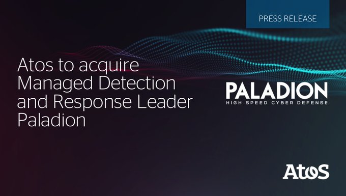 Very happy to announce the acquisition of @PaladionN, a global leader in Managed Detection...