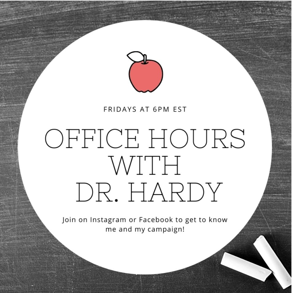 Join me for the launch of Office Hours with Dr. Hardy. My Special Guests are Rep. @GraigMeyer and @vlarendt, Exec. Director of @NASWNC who joined me recently to discuss the role of social workers in politics, policing, and pandemics. Watch via Facebook or IG!