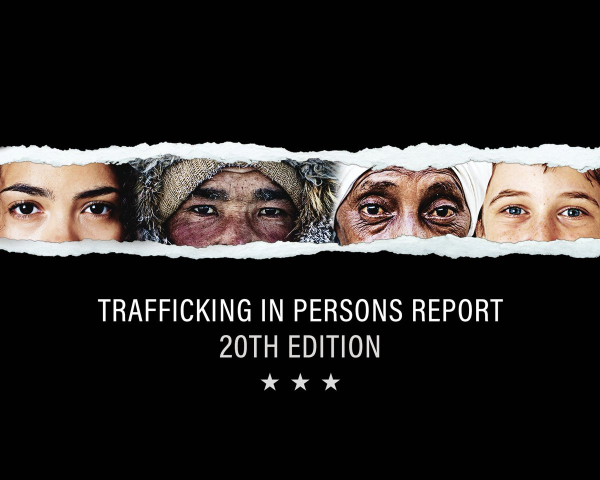 The TIP Report is a critical tool for change, and the need for a global response has never been greater as the pandemic reinforces the urgency to protect vulnerable people from exploitation.   Each of us can join the fight to #EndTrafficking: https://t.co/iZfgdatMS0 https://t.co/kAdHQ96XiH https://t.co/e62bkej7AF