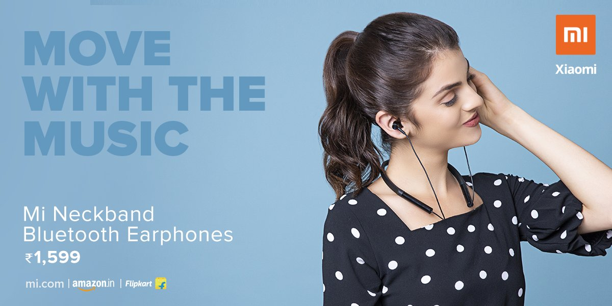 Mi India On Twitter Listen To Music From Any Distance Mi Neckband Bluetooth Earphones Come With Bluetooth 5 0 Available On Https T Co D3b3qtmvat Flipkart Amazonin Retail Stores Https T Co Iry8teqf2d