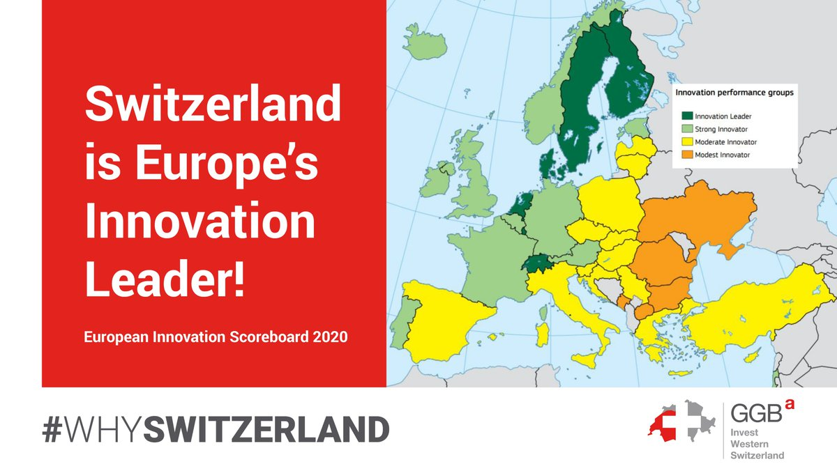 Thanks to its attractive research infrastructure 🔬, top talent 🎓 and strong firm investments 📈, #Switzerland🇨🇭 emerges as the overall #innovation leader in Europe, outperforming all 🇪🇺 member states. #EIS2020 #EuropeanInnovationScoreboard More➡https://t.co/CaLX1QiZ93 https://t.co/5x5mdVm8og
